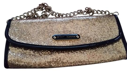 Betsey Johnson And Black Casual Evening Gold Clutch