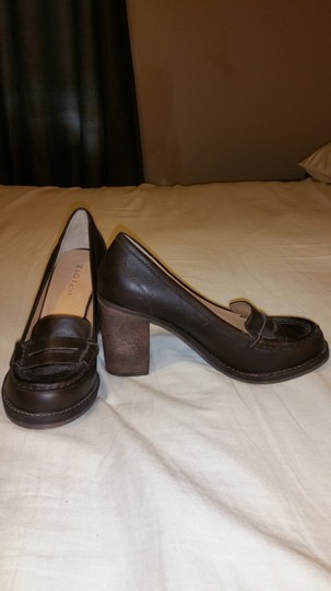 ZIGI NEW YORK Leather Loafer Chunky Brown Pumps