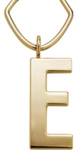 Fossil Fossil Letter Bag Charm Gold E