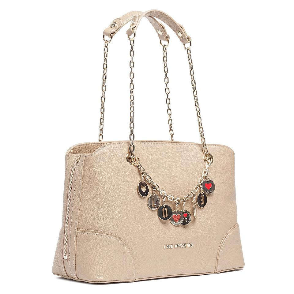love moschino taupe satchel satchels on sale. Black Bedroom Furniture Sets. Home Design Ideas
