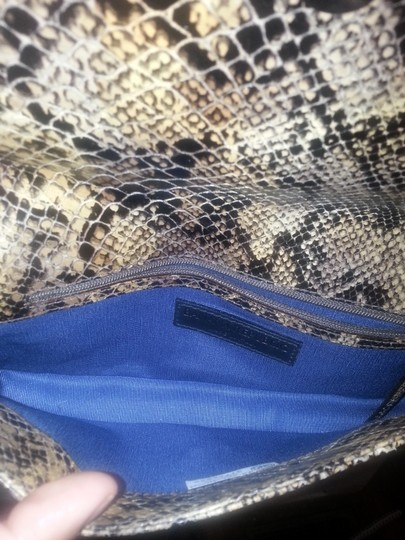 Banana Republic Italian Leather Snakeskin Shoulder Bag