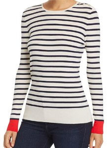 Tory Burch Nautical Stripe Buttons Sweater