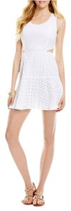 Jessica Simpson short dress White Summer Boho Eyelet Mini Cut Out on Tradesy