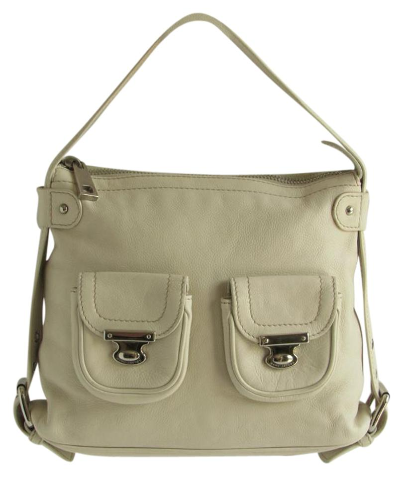 Pockets Leather Medium Marc Bag Ivory Strap Buckle Jacobs Front Hobo fq0wU4Z