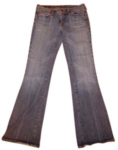 Citizens of Humanity Strechy Cotton Blend Low Rise Flare Leg Jeans-Distressed