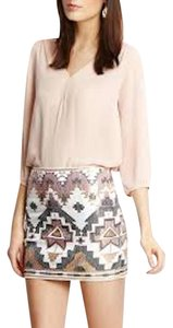 FATE Sequin Mini Skirt White, Gray, Pink, Gold