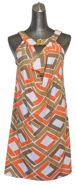 Item - Brown/Orange XS Halter Top Mid-length Casual Maxi Dress Size 2 (XS)
