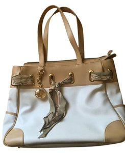 Other Resort Satchel in White w/ tan trim