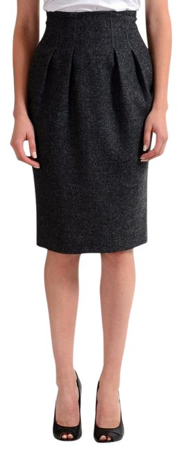 Item - Gray Women's Pleated Pencil Skirt Size 4 (S, 27)