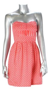 BeBop short dress Coral Pink Strapless Sundress Dot on Tradesy