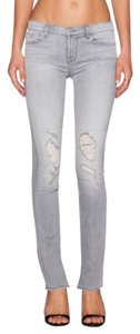 J Brand Distressed Destroyed Denim Straight Leg Jeans