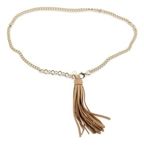 Gucci Chain and Leather Tassel