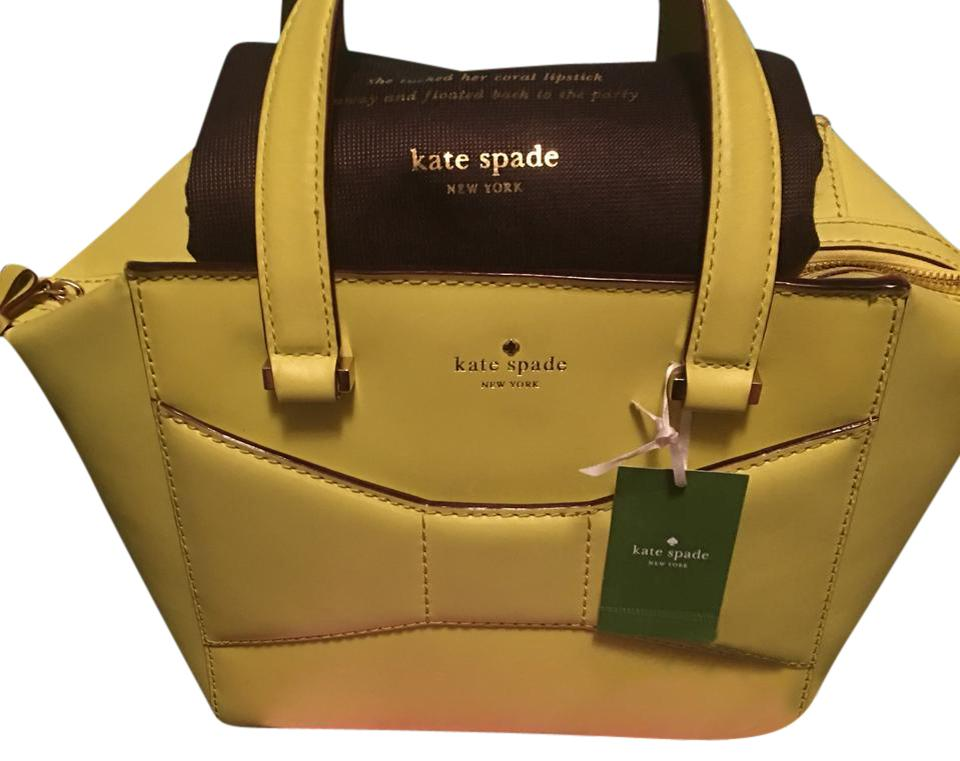 d60d71939c Kate Spade Small 2nd Ave. Beau Yellow Leather Satchel - Tradesy