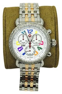 Michele 1.0 ct Michele CSX 36 Carousel Watch MW03M00A0933 Multicolor SS Band