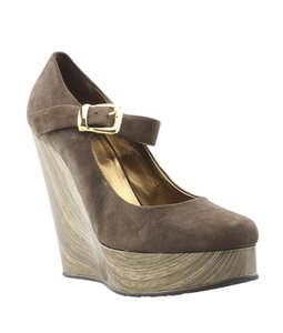 Giuseppe Zanotti Suede Brown Wedges