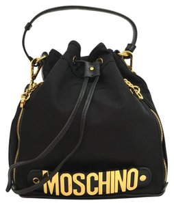 Moschino Nylon Bucket Logo Cross Body Bag