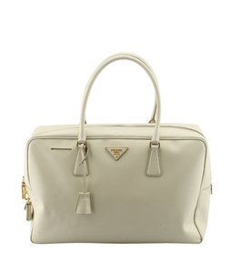 Prada Leather Satchel in White