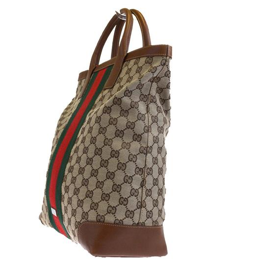 Gucci Shoulder Sherry Line Gg Pvc Tote in brown Image 1