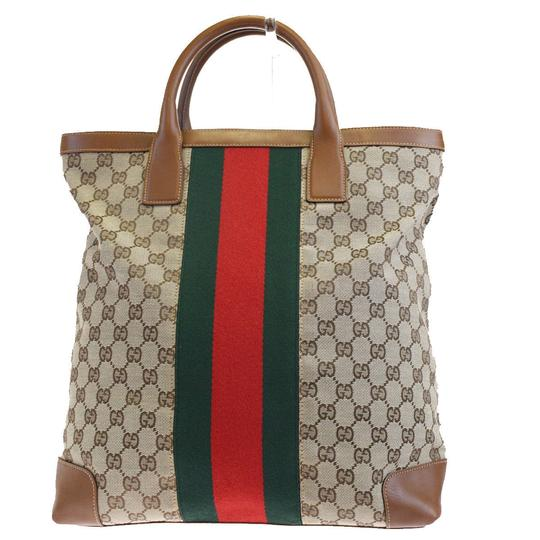 Gucci Shoulder Sherry Line Gg Pvc Tote in brown Image 9