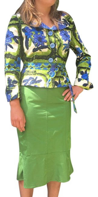 Preload https://img-static.tradesy.com/item/21950526/chaiken-green-pencil-flounce-midi-skirt-size-8-m-29-30-0-4-650-650.jpg