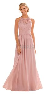 Jasmine Bridal Chiffon Full Length A-line Keyhole Bridesmaid Dress