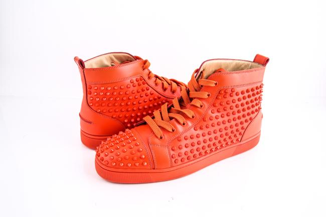 Item - * Red Spikes High Top Sneakers Shoes