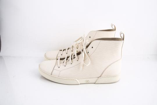 Louis Vuitton * Epi Hi Top Sneaker Cream Shoes Image 2