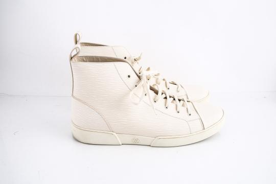 Louis Vuitton * Epi Hi Top Sneaker Cream Shoes Image 3