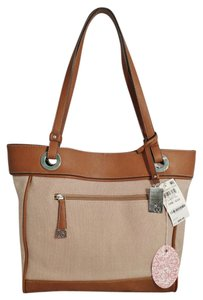 Style & Co Macy's Linen Tote in tan/brown