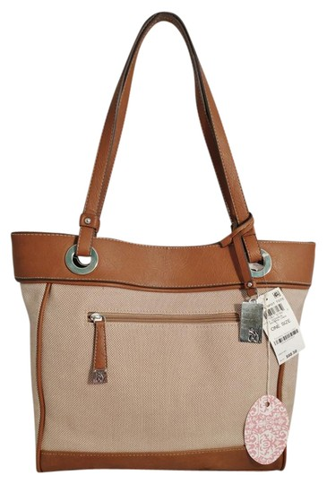 Preload https://img-static.tradesy.com/item/21950728/style-and-co-bright-spot-tanbrown-linen-and-faux-leather-tote-0-1-540-540.jpg