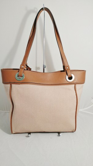 Style & Co Macy's Linen Tote in tan/brown Image 1