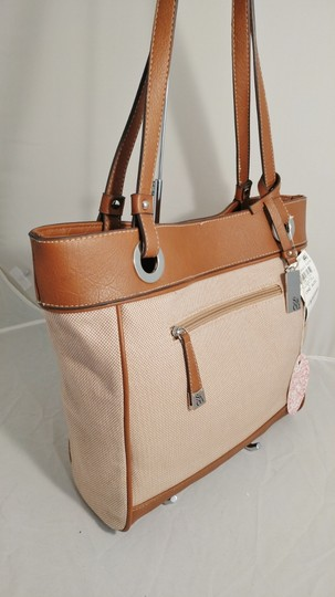 Style & Co Macy's Linen Tote in tan/brown Image 2