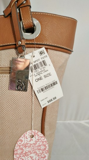Style & Co Macy's Linen Tote in tan/brown Image 3