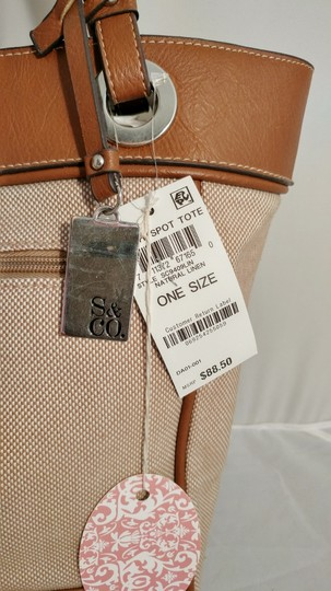 Style & Co Macy's Linen Tote in tan/brown Image 4