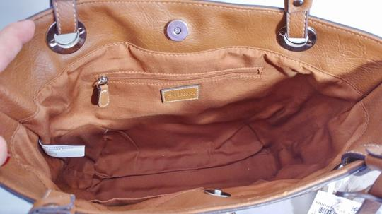 Style & Co Macy's Linen Tote in tan/brown Image 5