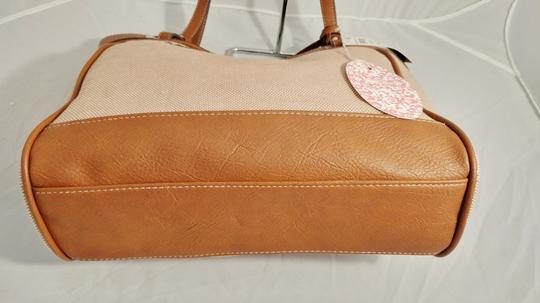 Style & Co Macy's Linen Tote in tan/brown Image 6