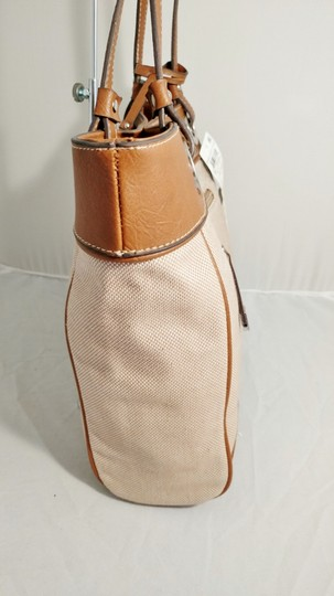 Style & Co Macy's Linen Tote in tan/brown Image 7