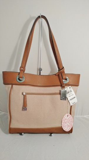 Style & Co Macy's Linen Tote in tan/brown Image 8