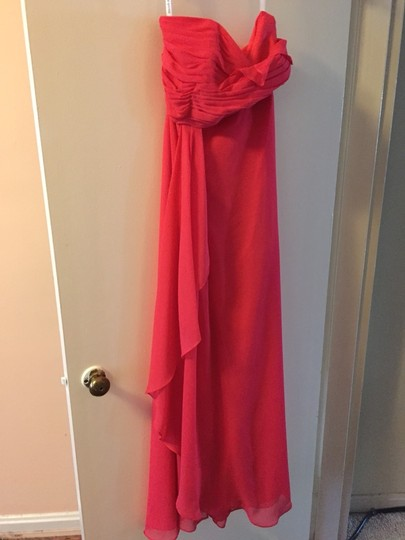 David's Bridal Pink Chiffon Bridesmaid/Mob Dress Size 8 (M)