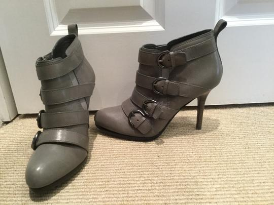 Coach Strappy Stiletto Leather Grey Boots Image 2