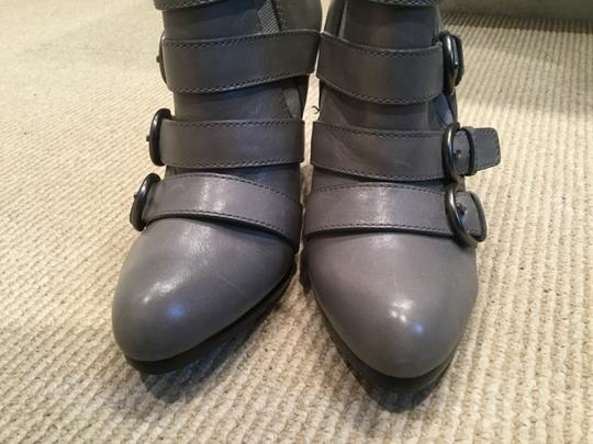 Coach Strappy Stiletto Leather Grey Boots Image 4