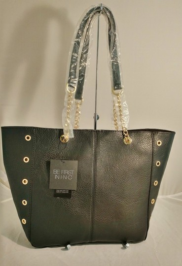INC International Concepts Int'l Macy's Tote in black/gold Image 7