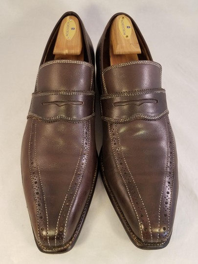 Canali Italian Man Dress Fine Brown Formal Image 1