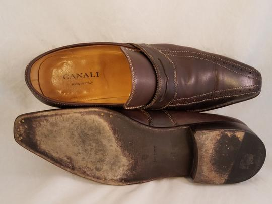 Canali Italian Man Dress Fine Brown Formal Image 6