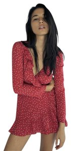 Réalisation Par short dress Red/White Wrap Summer Cute Sexy Print on Tradesy