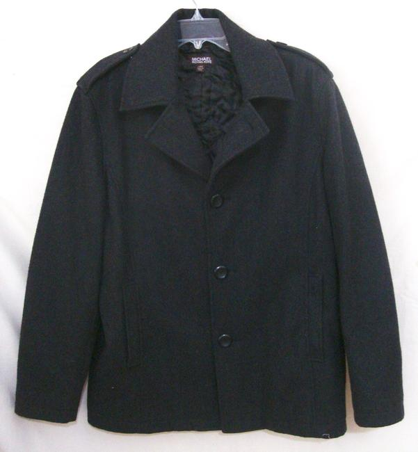 Michael Kors Button Wool Quilted Lining Coat Image 1