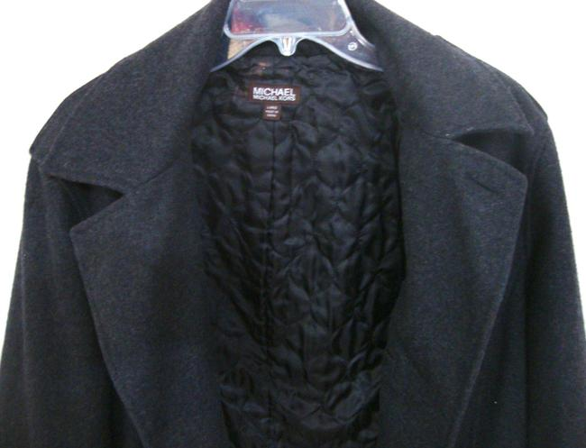 Michael Kors Button Wool Quilted Lining Coat Image 2
