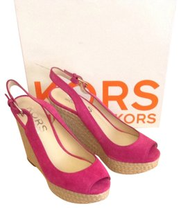 Michael Kors Suede Highend Pink Wedges