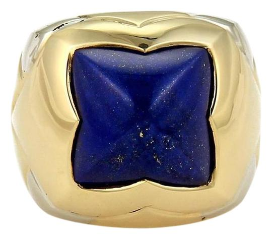 Preload https://img-static.tradesy.com/item/21951279/bvlgari-blue-lapis-yellow-gold-pyramid-18k-two-tone-floral-dome-size-65-ring-0-1-540-540.jpg