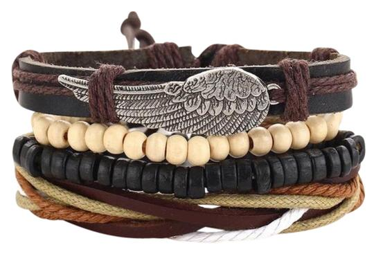 Queen Esther Etc 4 pcs Multilayer Leather Bracelets Sets Image 0